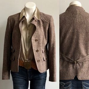 Eddie Bauer Brown Tweed Jacket
